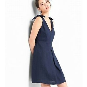 NWT Gap Navy Blue Linen Dress
